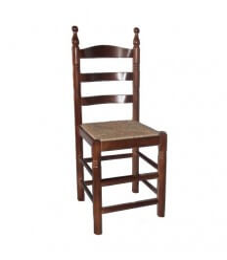 Silla hostelería Colonial Curvada|Silla madera artesana