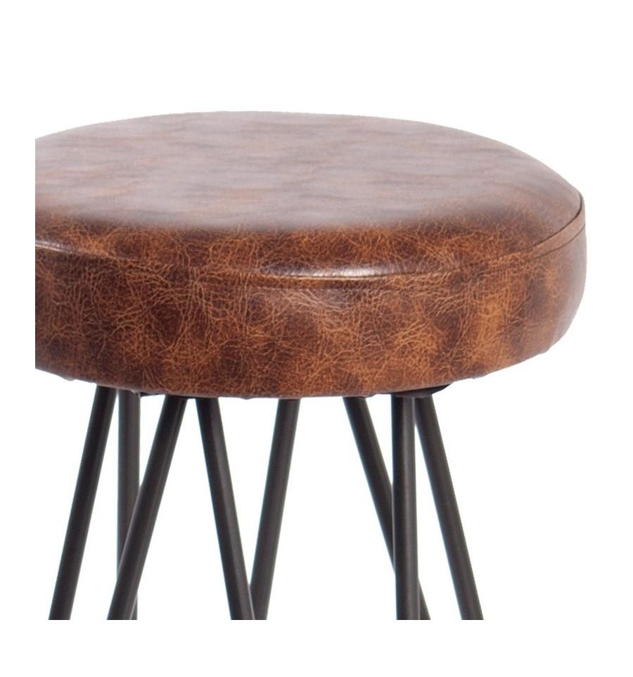 Taburete new york tap taburetes industrial sillas y - Taburete de madera ...