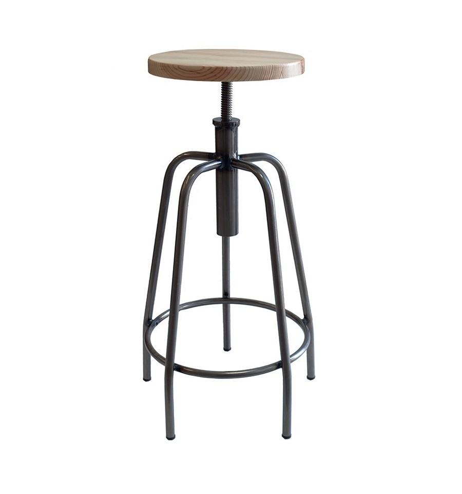 Taburete manhattan sillas y mesas de madera for Taburetes para bar de madera