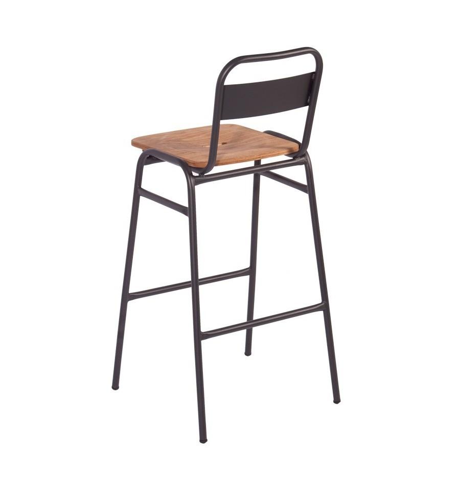 Taburete donatello respaldo sillas y mesas de madera for Mobiliario nordico