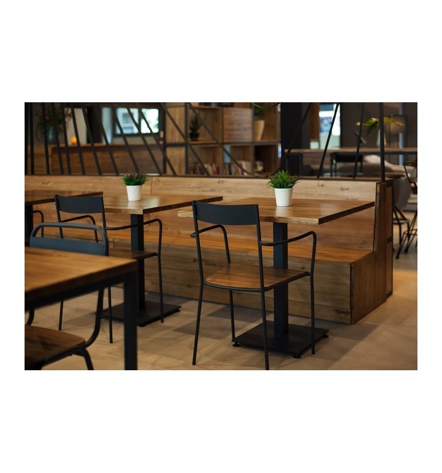 Silla boccioni sillas y mesas de madera mobiliario industrial - Mobiliario industrial vintage ...