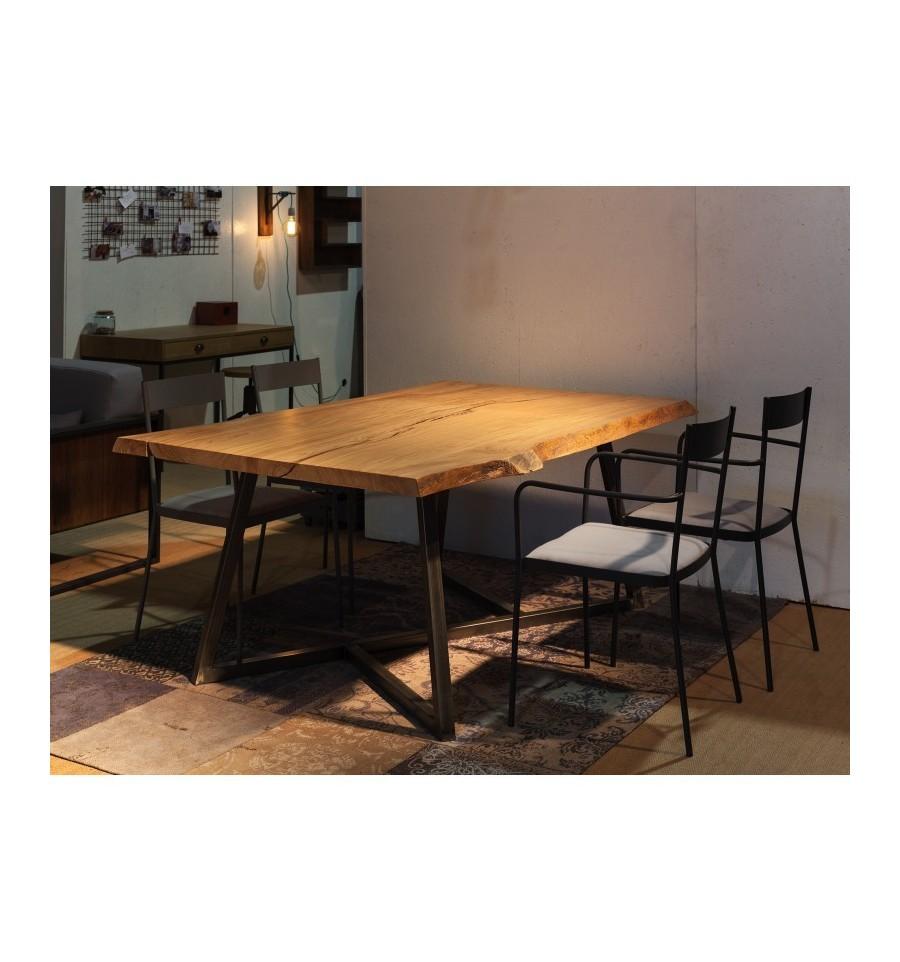 Silla boccioni sillas y mesas de madera mobiliario industrial - Mobiliario vintage industrial ...