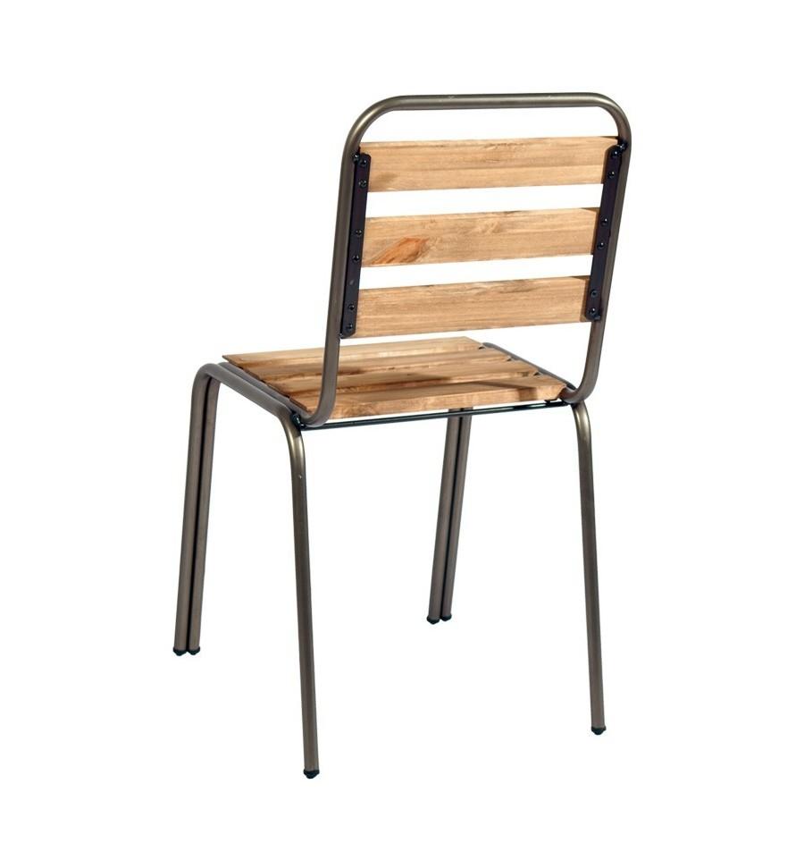 Silla van dick sillas y mesas de madera mobiliario industrial for Sillas vintage madera