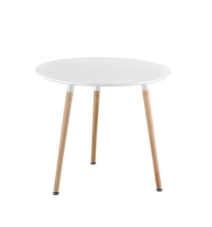 Mesa n rdica redonda 80 cm mesa eames sillas y mesas de for Mesa redonda blanca 120 cm