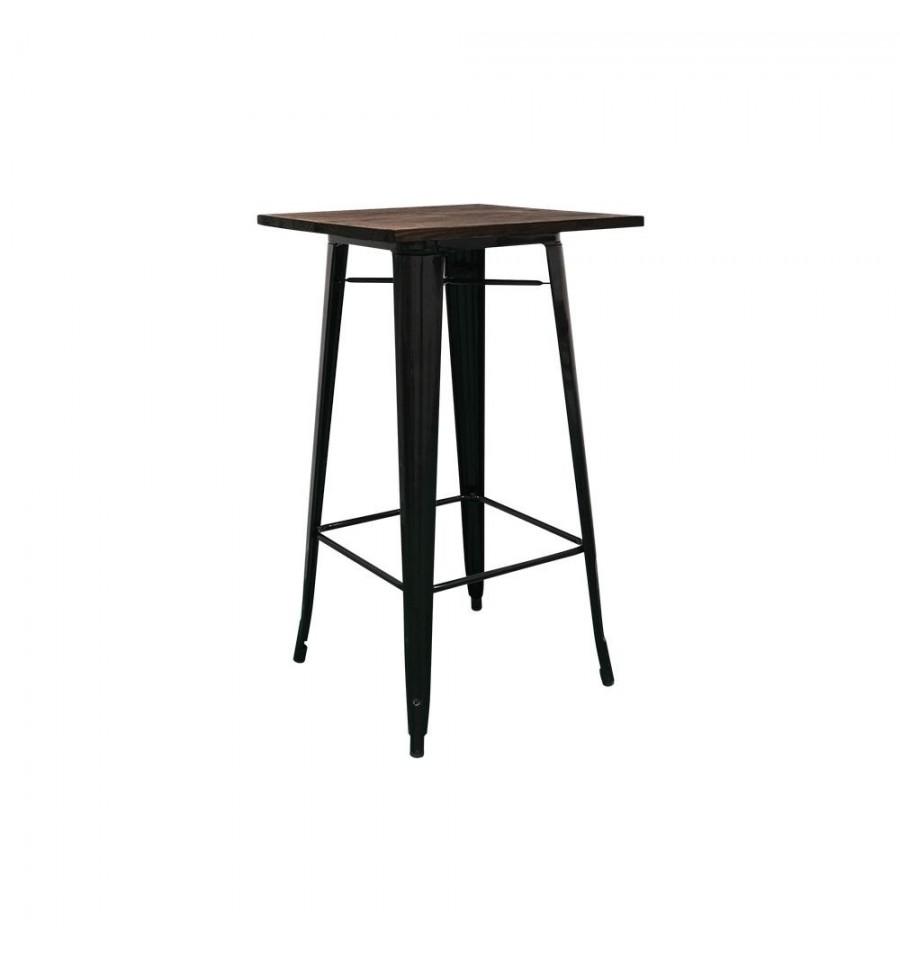 Mesa alta de bar mesa industrial sillas y mesas de madera - Mesa madera industrial ...