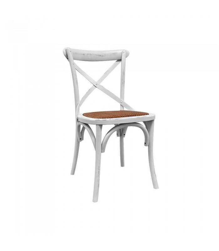 Silla Thonet blanco Vintage | Sillas nordicas- Sillas Cross