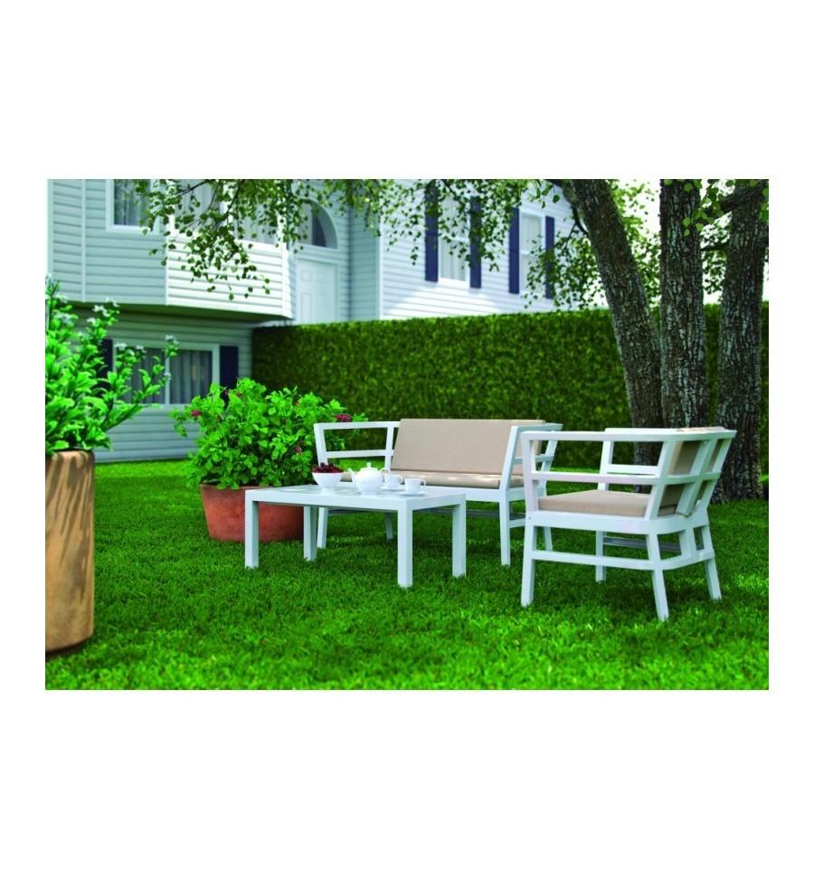 Conjunto de sofas para terrazas ainoa sillas y mesas de for Conjunto para terraza