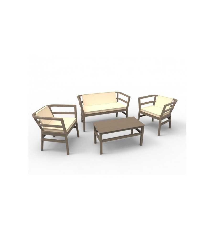 Conjunto de sofas para terrazas ainoa sillas y mesas de for Oferta mobiliario terraza