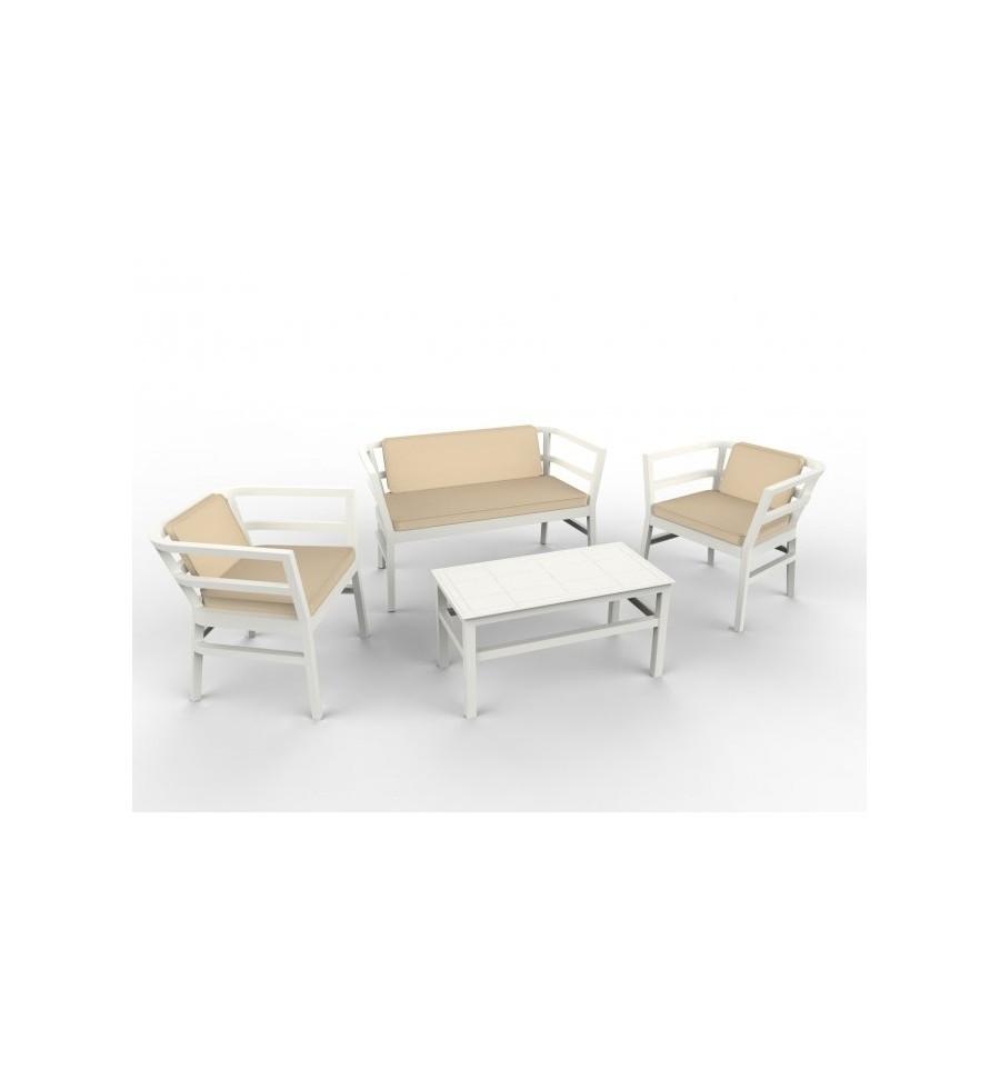 Conjunto de sofas para terrazas ainoa sillas y mesas de for Conjunto de sofas para exterior