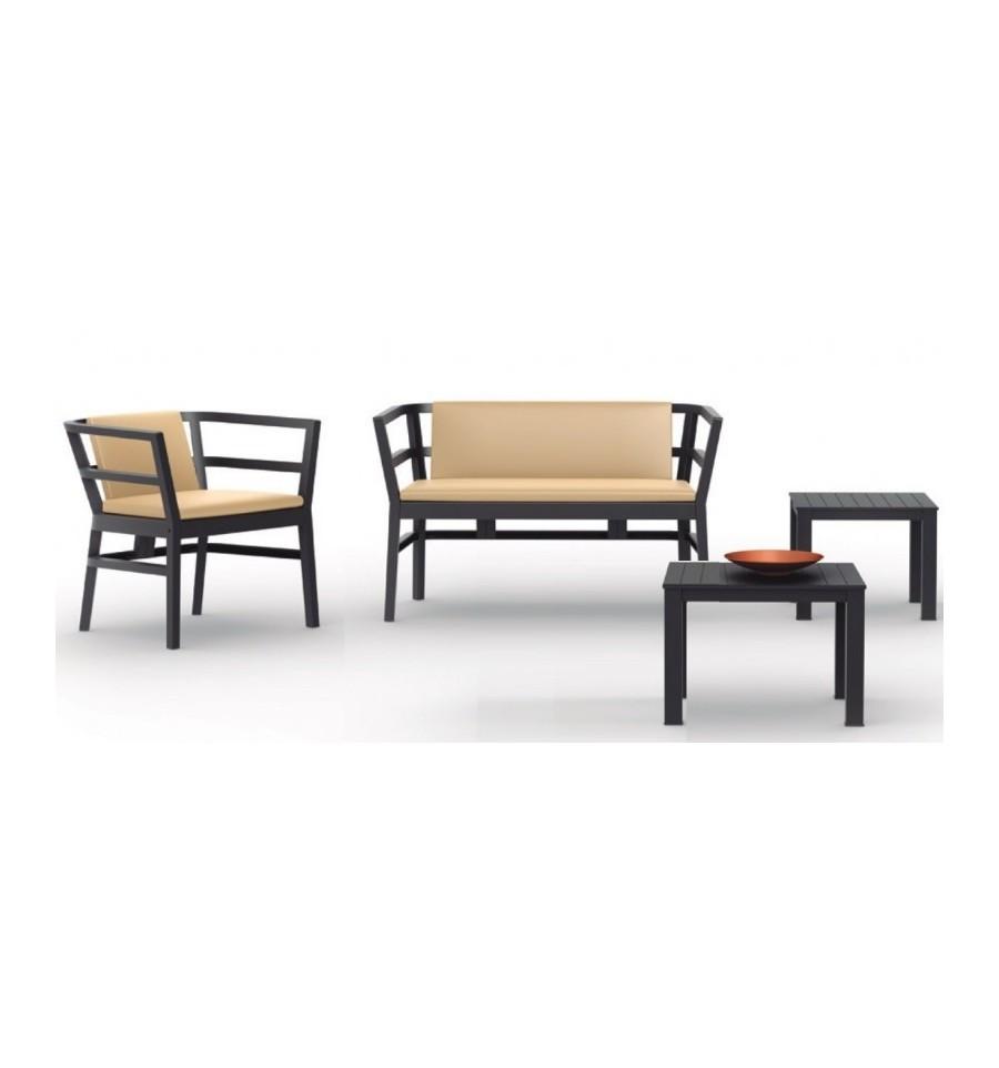 Conjunto de sofas para terrazas ainoa sillas y mesas de - Mobiliario para terraza ...