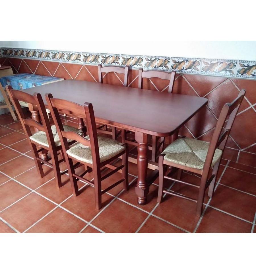 Mesa hosteler a ref 720 fabrica de mesas madera rusticas for Mesas y sillas hosteleria
