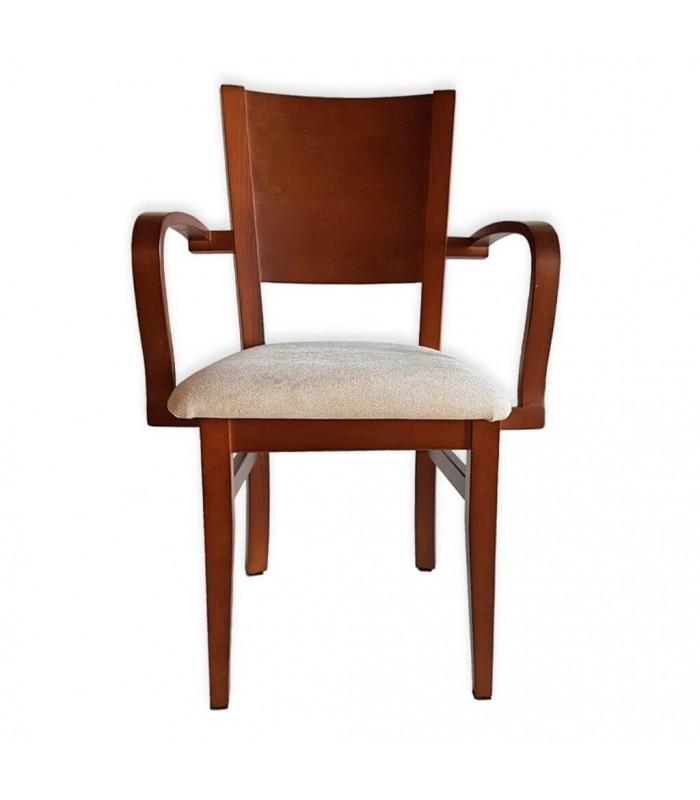 Silla con brazos Nápoles|Sillas madera tapizadas-Tienda online sillas madera