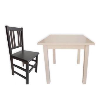1 Mesa madera + 4 Silla Orense madera| Mobiliario Hostelería