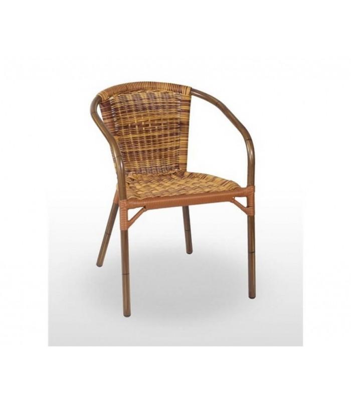 Sillón Kalmar Bambú| Sillas terraza apilables