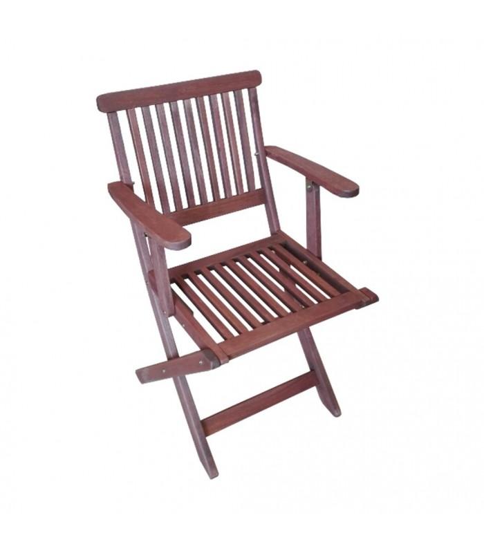 Silla Castellfort con brazos|Sillas madera plegables