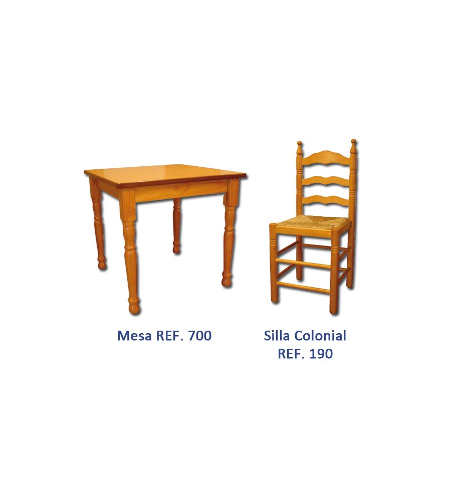 Oferta mobiliario hosteleria madera pack 1 sillas y for Oferta mesa y sillas