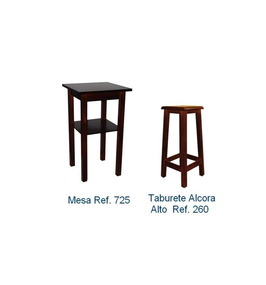 Ofertas mobiliario hosteleria de madera pack 4 sillas y for Oferta mesa y sillas
