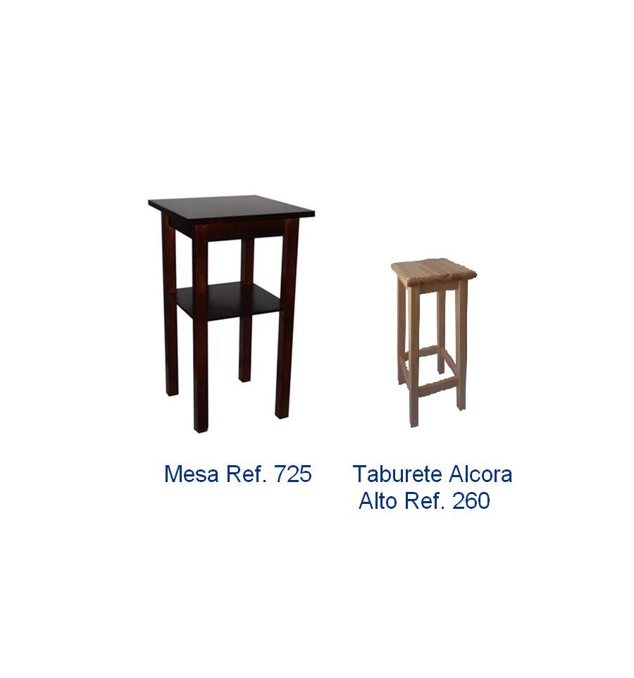 Ofertas mobiliario hosteleria de madera pack 4 sillas y for Ofertas de mesas y sillas