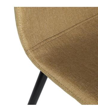 Silla Boro terciopelo|Armazon hierro negro