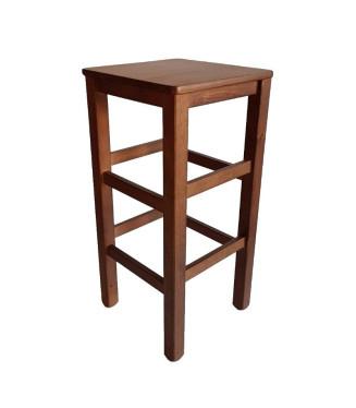Taburete  Castellano Alto asiento madera|Taburetes de madera bares