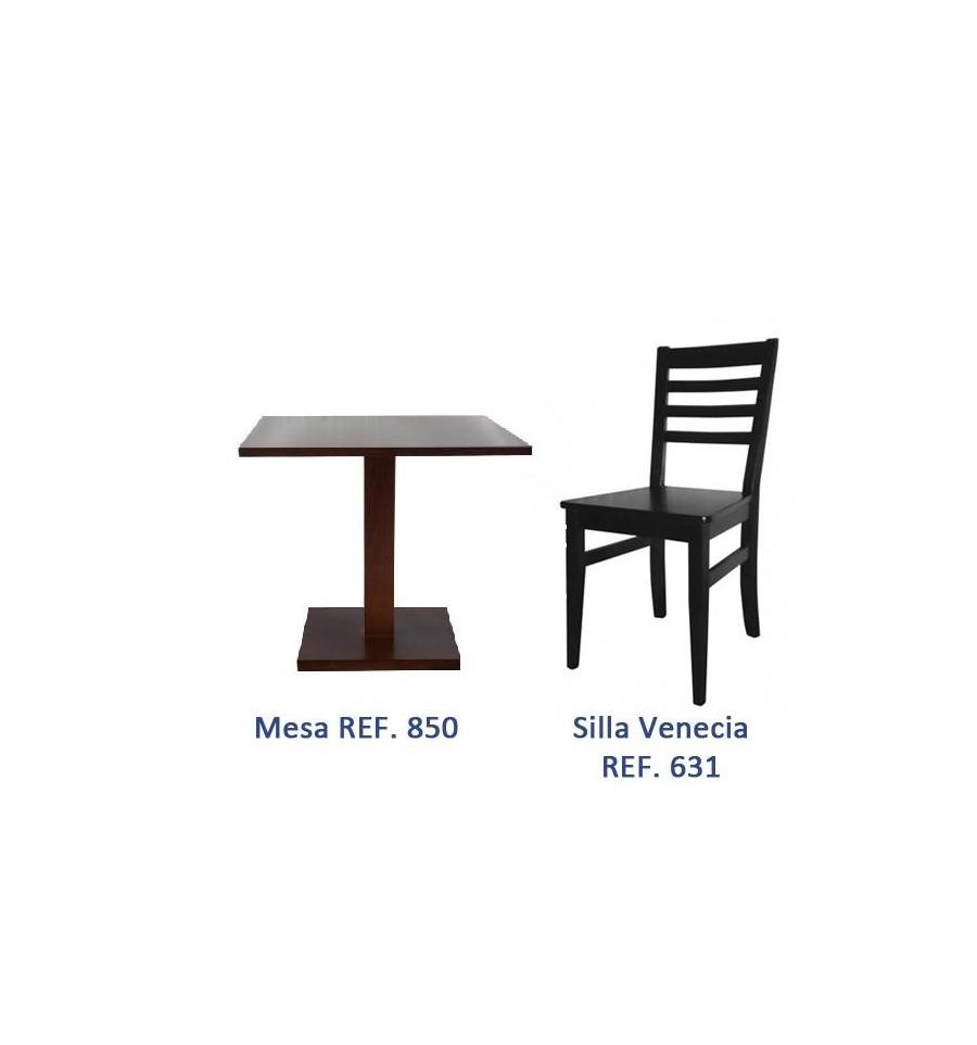 Ofertas mobiliario hosteleria madera sillas y mesas de madera for Oferta mesa y sillas