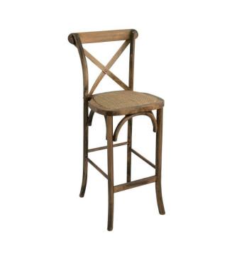Taburete Thonet Respaldo nogal y ratán|Sillas y Mesas de madera