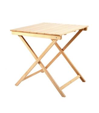 Mesa plegable cuadrada madera de haya- Mesas madera Eventos