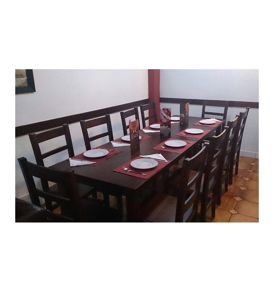 Sillas madera muebles hosteler a sillas y mesas de madera for Mesas y sillas hosteleria
