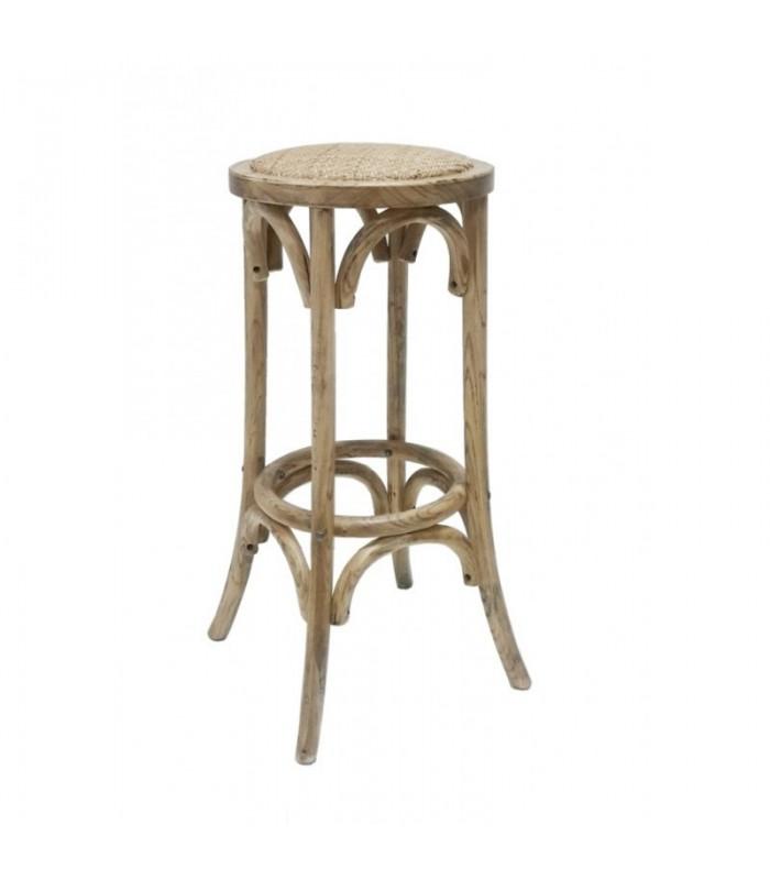 taburete thonet madera asiento de guita |bar-restaurantes