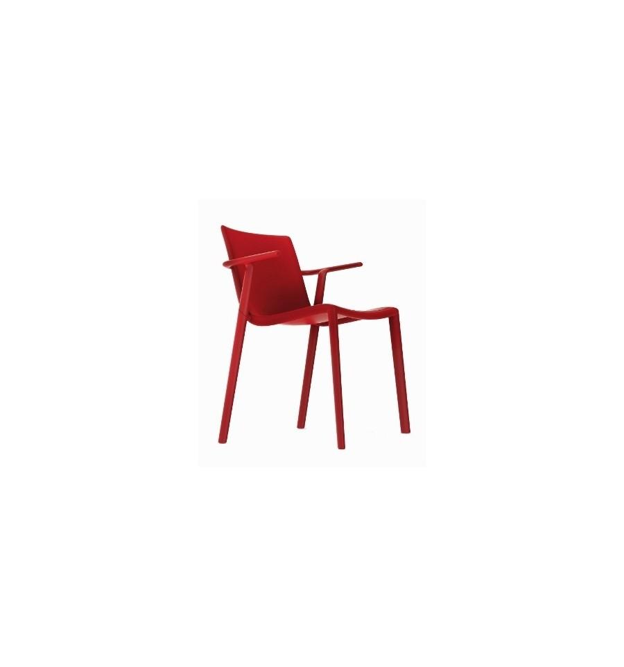 Silla kat con brazos mobiliario de hosteler a sillas y for Sillas con brazos tapizadas