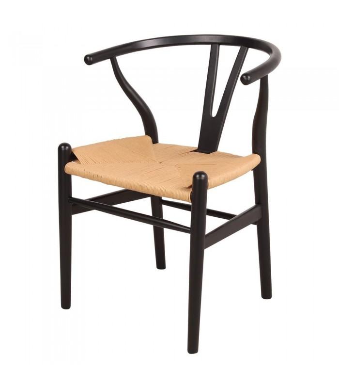 Silla Wishbone negra| Silla Online CH24