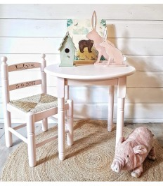 Silla de madera infantil|Sillas de madera artesanal