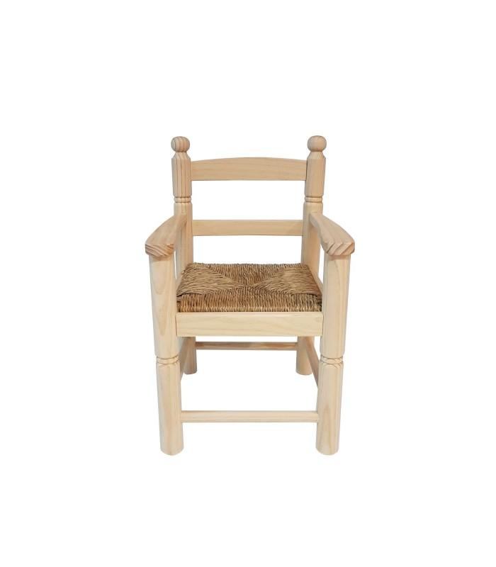 Sillón de madera infantil|Fabricado con pino macizo español