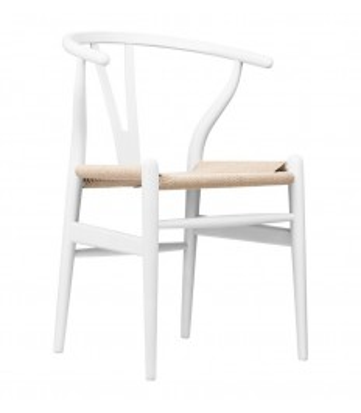 Silla Wishbone blanca | Wishbone CH24 Inspiración-Mobiliario Interiorist