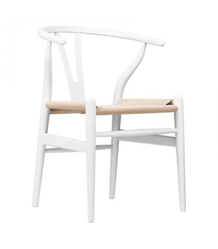 Silla Wishbone blanca   Wishbone CH24 Inspiración-Mobiliario Interiorist