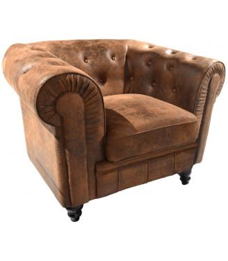 Sofá 1 plaza Chester Riverside| Sofa vintage tapizado