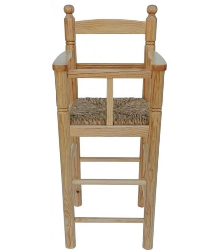 Trona Infantil con barrera de seguridad  Sillas y mesas de madera- taburetes madera niño