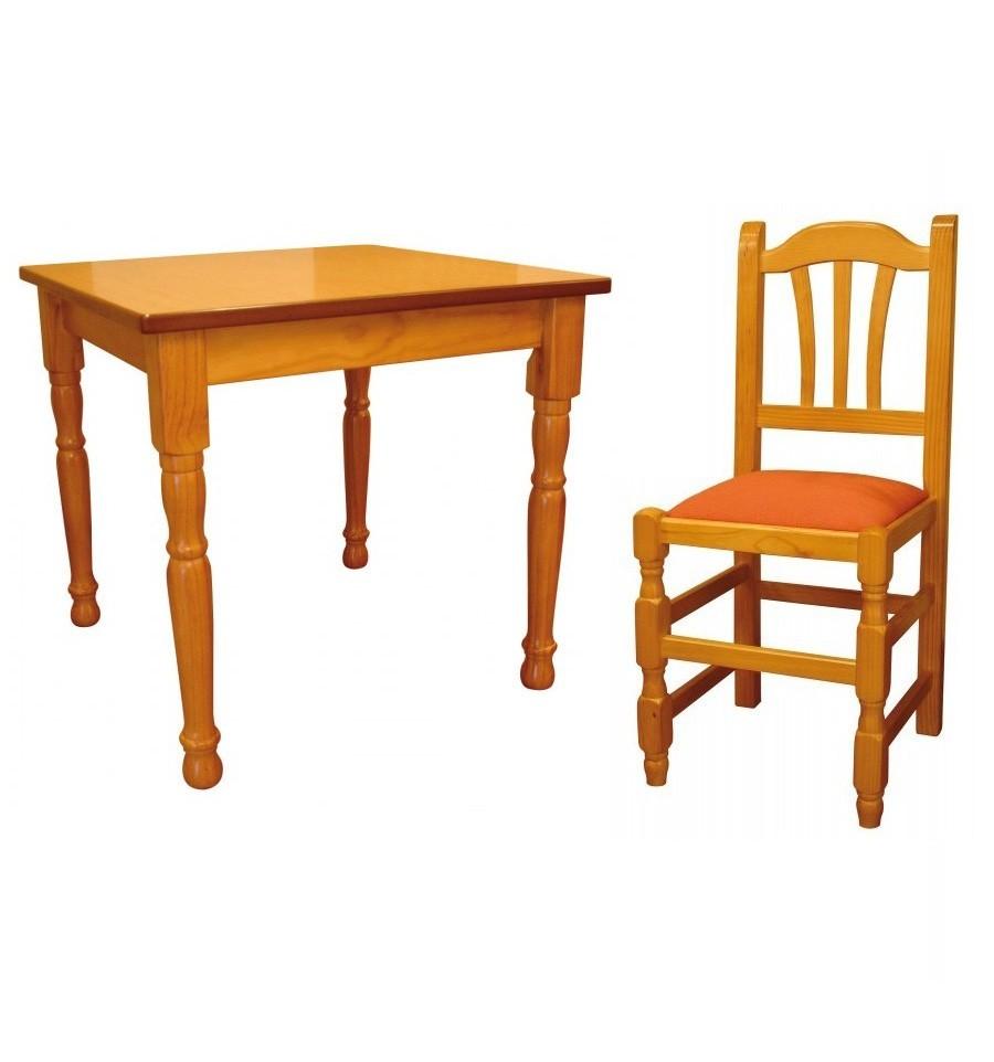 Mesa hosteler a 4 silla palmera sillas y mesas de madera for Oferta mesa y sillas