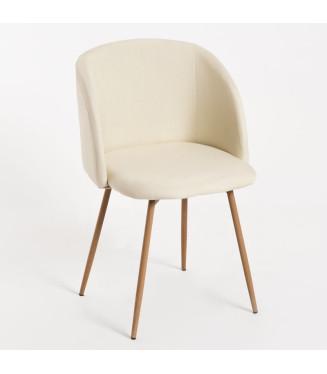 Sillón Voss Tela  Sillas y Mesas de madera- sillón tapizado comedor