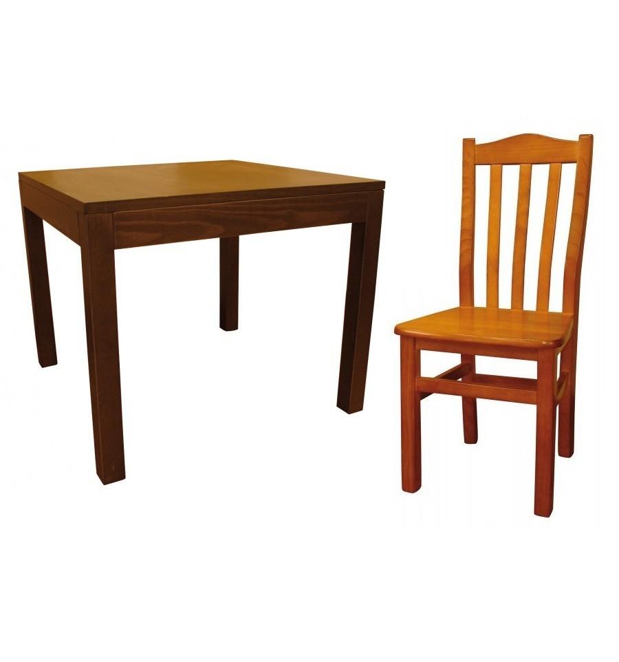 Mesa 710 4 silla hosteler a ofertas sillas y mesas de for Oferta sillas madera