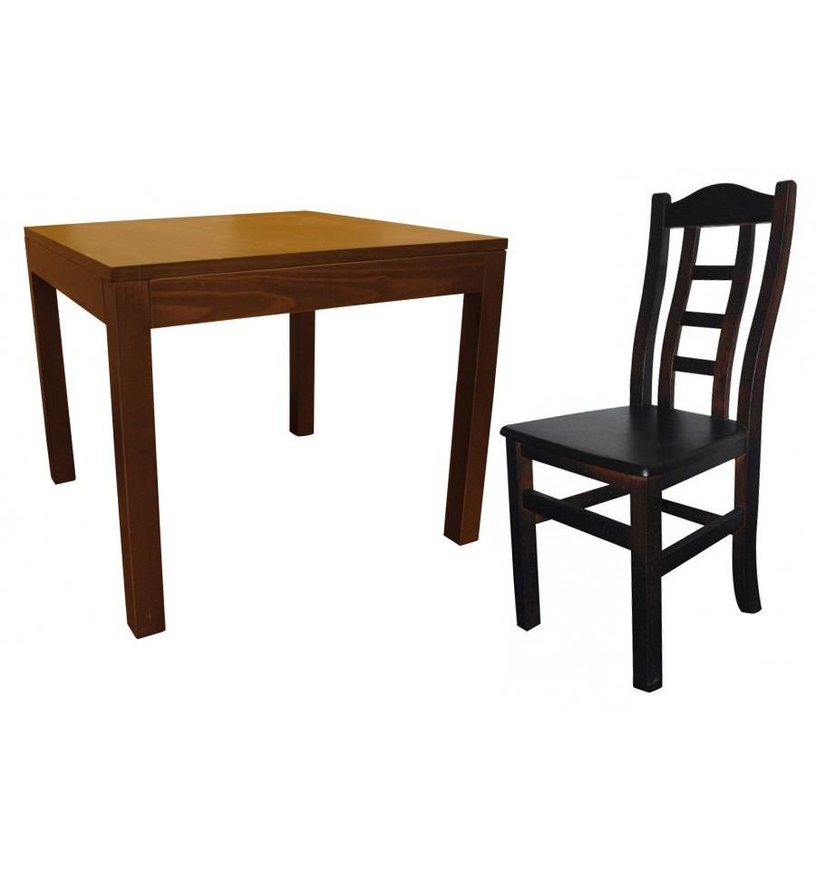 Mesa madera 4 sillas hosteler a burgos sillas y mesas de madera - Conforama mesas y sillas ...