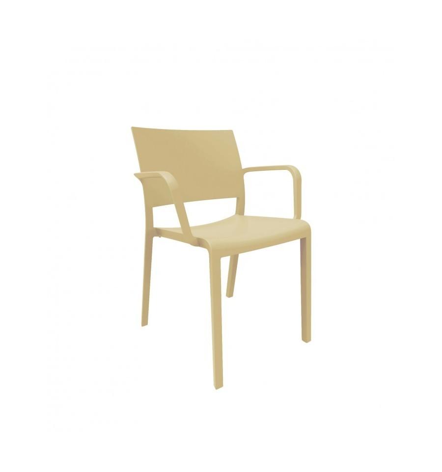 Silla hosteler a fiona con brazos sillas y mesas de madera - Sillas con brazos tapizadas ...