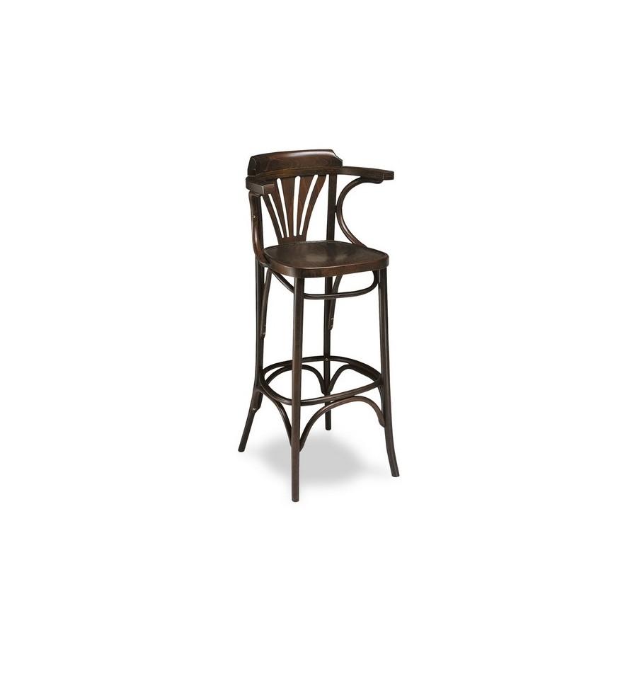 Taburete hosteler a denia taburete bar sillas y mesas de for Taburetes para bar de madera