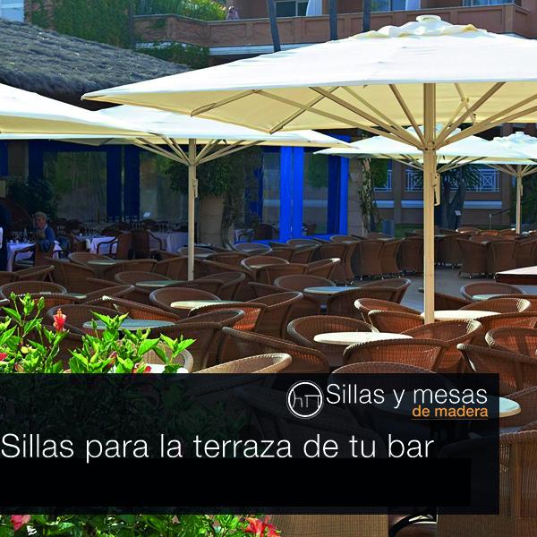 Sillas y mesas de madera tipos de silla para la terraza - Sillas para terraza de bar ...