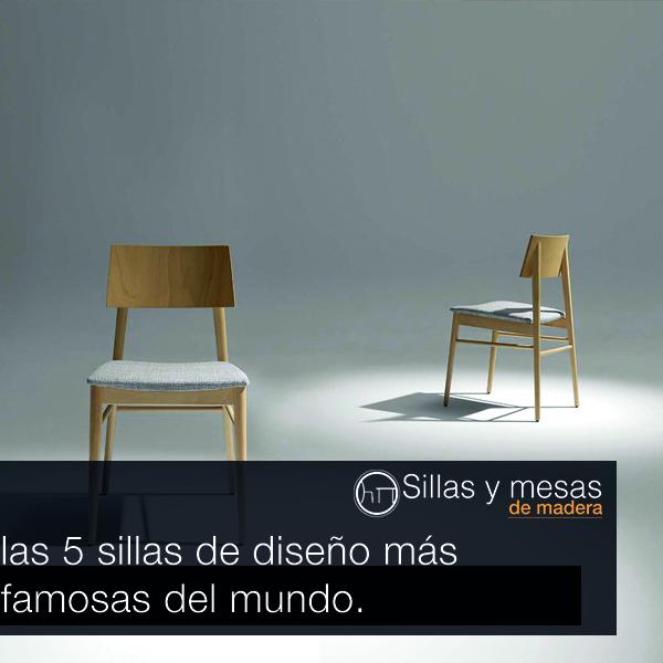 Sillas de madera para bar las 5 sillas de dise o m s for Mesas diseno famosas